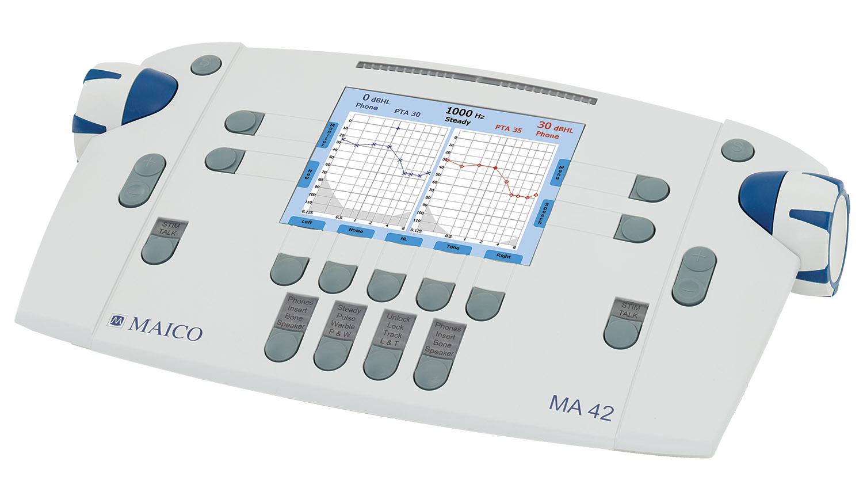hallásvizsgálat hallásmérés audiométer MA 42 siket süket jó hallás rossz hallás fülész fül orr gégész vizsgálat
